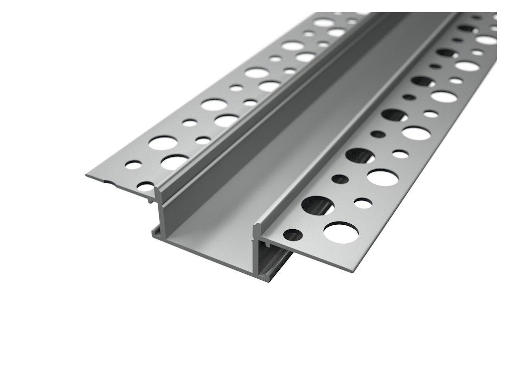 Vestavný hliníkový profil RC5 pro LED pásek, barva stříbrná  Rozměry pro zapuštění š/v 61,5,8x13,8mm, vnitřní průměr 20,mm