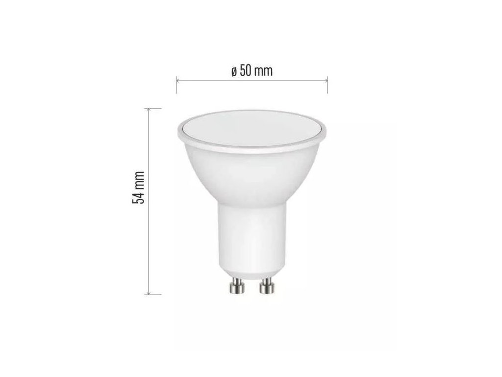 LED žárovka Emos Classic 4,5W GU10 denní bílá 120° bodová ZQ8341