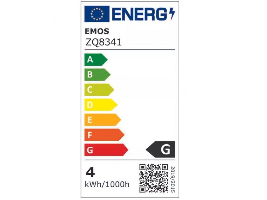 LED žárovka Emos Classic 4,5W GU10 studená bílá 120° bodová ZQ8342