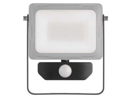 LED reflektor Emos ILIO 20W s PIR čidlem mléčný kryt IP44 ZS2920 vhodný i do exteriéru, svítivost 1600 lm, 4000 K, barva světla neutrální bílá