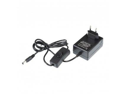 Zásuvkový zdroj 12V 24W pro zapojení LED osvětlení s vypínačem - trafo s DC/2A konektorem 05309