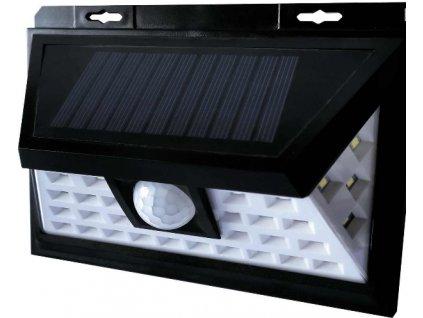 Venkovní fasádní solární LED svítidlo 5W bílé. LED bezdrátový designový reflektor s podsvícením, výměnná baterie. Vhodné na balkony, terasy a zahrady.  TopLux Praha.