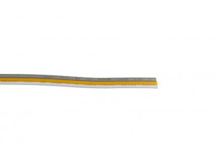 Propojovací Kabel vhodný pro CCT pásky 3x0,35mm2 RGB kabel Doporučené max. napětí 50V Max. zatížení 12V 72W, 24V 144W 111111