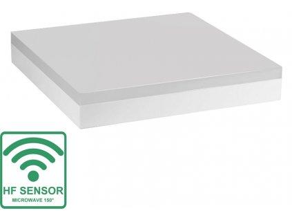 Greenlux LED SMART-S 12W s HF senzorem, neutrální bílá IP44 přisazené hranaté bílé GXLS282