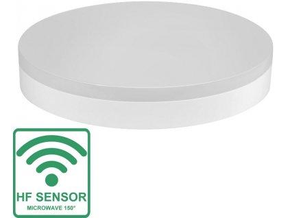 """Greenlux LED SMART-R 18W s HF senzorem, neutrální bílá IP44 přisazené kruhové bílé LED kulaté svítidlo 18W Mikrovlnný pohybový HF senzor Krytí IP44 - vhodné do interiéru i exteriéru Rozměry: ∅ 280 x 53 mm Náhrada za žárovku 120 W Svítivost 1 550 lm Barva světla: 4.000K neutrální """"denní"""" bílá Díky krytí IP44 je možné svítidlo umístit jak do vnitřních, tak vnějších prostor. Svítidlo je chráněno proti vniknutí drobných cizích předmětů a také proti stříkající vodě ze všech úhlů. Obsahuje mikrovlnné čidlo pohybu s možností regulace: - času svícení: 5s. - 30min. - rozsahu detekce pohybu: 2 - 8 m - spínaní noc/den 10 - 2.000 lux  (tzn. můžete nastavit aby se svítidlo zapínalo pouze v noci, za šera nebo celodenně) Zvýšená odolnost IK10 TopLux osvětlení Praha Libeň, Sokolovská - skladem na prodejně za nízké ceny a množstevní slevy"""