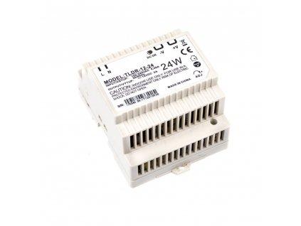 LED napájecí zdroj 12V 24W pro LED pásky - na DIN lištu do rozvodné skříně 2A 05401. Skladem na Toplux.cz, ihned k odeslání