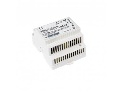 LED napájecí zdroj 12V 54W pro LED pásky - na DIN lištu do rozvodné skříně 4,5A 05403. Skladem na Toplux.cz, ihned k odeslání