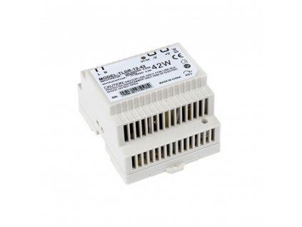 LED napájecí zdroj 12V 42W pro LED pásky - na DIN lištu do rozvodné skříně 3,5A 05402 LED elektronický spínaný zdroj pro LED pásky (trafo) určený pro vnitřní použití, možnost uchycení na DIN lištu do rozvaděče. Kompatibilní na lišty TS35/15 a TS35/15. Tento typ zdrojů je opatřen pojistkou proti přetížení, tepelnou pojistkou a pojistkou proti zkratu (opět plně funkční po odstranění zkratu).  TopLux Osvětlení Praha
