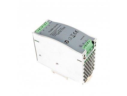 LED napájecí zdroj 12V 75W pro LED pásky - na DIN lištu do rozvodné skříně 6,25A 05404 LED elektronický spínaný zdroj pro LED pásky (trafo) určený pro vnitřní použití, možnost uchycení na DIN lištu do rozvaděče. Kompatibilní na lišty TS35/15 a TS35/15. Tento typ zdrojů je opatřen pojistkou proti přetížení, tepelnou pojistkou a pojistkou proti zkratu (opět plně funkční po odstranění zkratu).  TopLux Osvětlení Praha