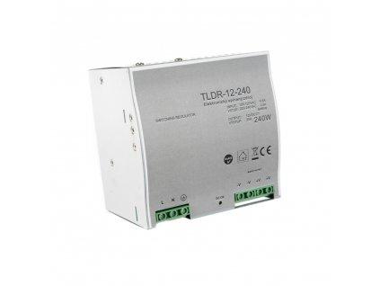 LED napájecí zdroj 12V 240W pro LED pásky - na DIN lištu do rozvodné skříně 20A 05406 LED elektronický spínaný zdroj pro LED pásky (trafo) určený pro vnitřní použití, možnost uchycení na DIN lištu do rozvaděče. Kompatibilní na lišty TS35/15 a TS35/15. Tento typ zdrojů je opatřen pojistkou proti přetížení, tepelnou pojistkou a pojistkou proti zkratu (opět plně funkční po odstranění zkratu).  TopLux Osvětlení Praha