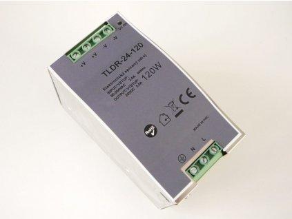 LED napájecí zdroj 24V 120W pro LED pásky - na DIN lištu do rozvodné skříně 5A 05411