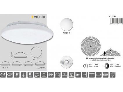 Svítidlo VICTOR pro LED žárovku E27 a HF čidlem W131-BI