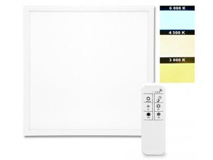 LED stmívatelný panel ZEUS CCT 40W 60×60cm vestavný bílý s regulací teploty barev LED-GPL44-40/BI/CCT
