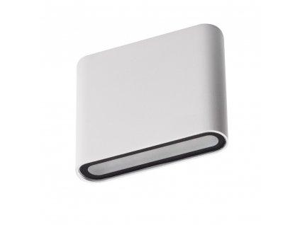 Venkovní svítidlo na fasády GARTO 8W stříbrné oboustranné designové