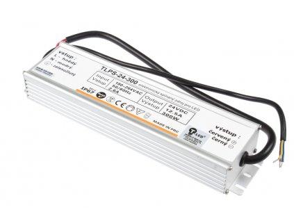 LED trafo TLPS-24-300 zalité 24V 12,5A (300W) - napájecí zdroj venkovní IP67 vodotěsné provedení. Kvalitní kovové provedení zatěsněné proti vlhsti a prachu.  TopLux Osvětlení Praha skladem na prodejně nízké ceny