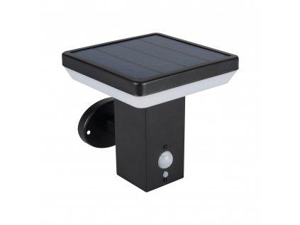 LED fasádní solární svítidlo SOLCA L PV EL-B 5W černé hranté se senzorem pohybu a setmění IP44 25774