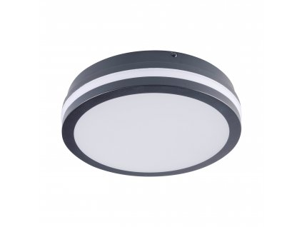 LED nástěnné venkovní svítidlo BENO 18W NW-O-GR 4000K kulaté grafitové IP54 32941