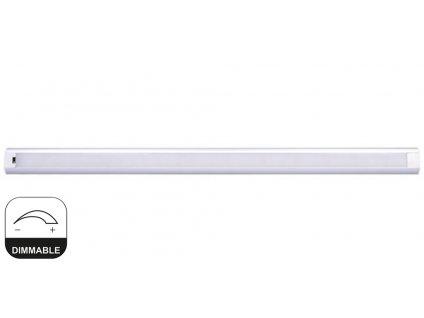 """Solight LED stříbrné kuchyňské svítidlo 60cm na mávnutí 9W bezdotykové stmívatelné IR sensor WO217 EAN: 8592718026103 LED stmívatelné svítidlo 60cm pod kuchyňskou linku či poličku s IR senzorem na bezdotykové ovládání. Svítidlo má hliníkové tělo pro chlazení a o svítivost se stará LED modul s čipy SMD 12V 9W - 700 Lm v neutrální """"denní"""" bílé barvě svetla 4.000K. Ovládání je snadné, 1. mávnutí zapnete 2. mávnutím vypnete, při podržení ruky pod senzorem se svítidlo začne stmívat. Napájení je přes zásuvkový adaptér(zdroj). Svítidlo lze přilepit oboustranou akrilovou páskou nebo jej přidělat pomocí úchytů které jsou v balení. TopLux Osvětlení Praha, Libeň, Sokolovská ulice"""