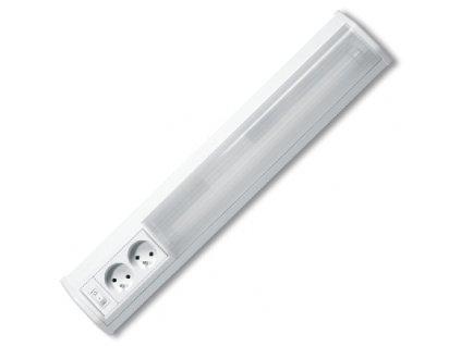Zářivkové kuchyňské svítidlo ROSA 18W o délce 75cm je vhodné pro podsvícení kuchyňské linky, prodejních pultů a výloh. Je vyrobeno z hliníku a plastu. ROSA od firmy Ecolite je kompletní svítidlo se zdrojem, vypínačem, elektronickým předřadníkam a součástí balení je i trubice T8 18W 750mm o průměru 26mm. Určeno pro vnitřní použití. Kabel není součástí dodávky, svítidlo je určeno pro připojení na vyvedený kabel(220-240V) ze zdi pod skříňkami kuchyňské linky.  Hlavním znakem a výhodou svítidla ROSA jsou dvě zabudované zásuvky.  Nabízíme také varianty 10W(50cm), 15W(60cm) a 18W(75cm).