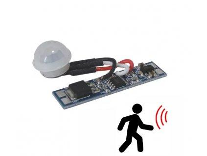 Pohybový spínač do profilu T10A se senzorem pro LED pásky 04150628 LED pohybový PIR spínač je primárně určen pro vestavbu do LED osvětlení z LED pásků a hliníkových ALU profilů. Spíná automaticky při přiblížení osoby ve vzdálenosti do 2m od senzoru a zůstává sepnuté po dobu přítomnosti osoby v uvedené vzdálenosti. Vypíná se cca 40s po vystoupení osoby z dosahu senzoru. V případě umístění senzoru nad plošným spojem je doporučená hloubka profilu ≥10mm. TopLux Osvětlení Praha Libeň - Sokolovská ulice