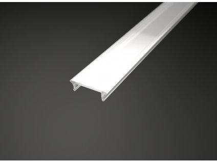 Difuzor 2 metry ALU profilu Surface-1 90 Kč mléčný opál, kryt hliníkové lišty pro LED pásky - plochý vzhled TopLux Osvětlení Praha, Libeň - Sokolovská ulice