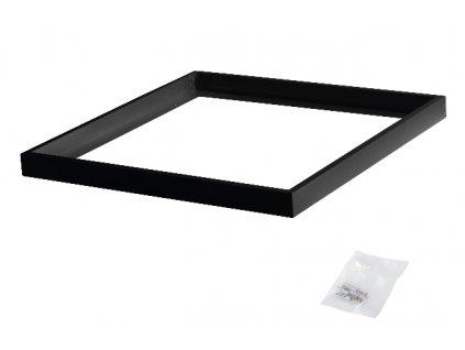 Černý čtvercový montážní rám pro přisazení LED panelu 60x60 k pevnému stropu rámeček 600x600 antracid