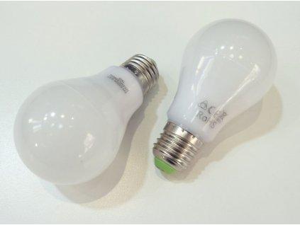 Stmívatelná LED žárovka s klasickým velkým závitem E27, standartní rozměr A60 průměr 6cm a příkonem 9W - což nahradí klasickou 60W žárovku. V barvě světla 4000K neutrální bílá. Stmívatelná klasickým nástěnným stmívačem pro LED produkty.