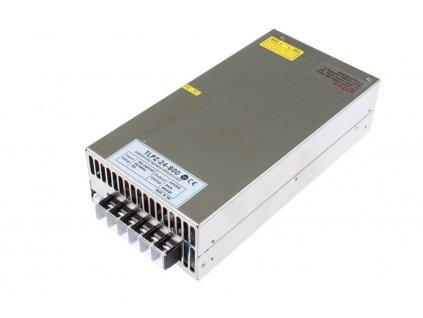 LED trafo 24V 34A (800W) - napájecí zdroj vnitřní IP20. Kovové stříbrné provedení s děrováním pro cirkulaci vzduchu. TopLux Osvětlení Praha skladem na prodejně nízké ceny