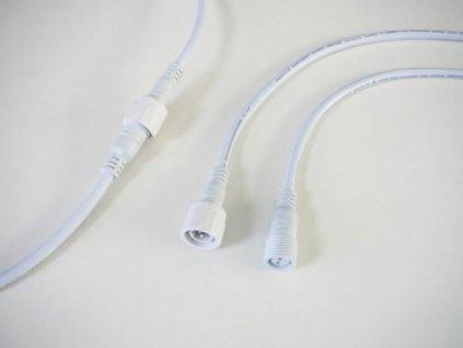 Spojka voděodolná s kabelem 2x0,75 bílá s IP krytím 11221 EAN: 1100000112211 Spojka voděodolná Dvojžíla bílá Rozměr 2 x 0,75 Voděodolná spojka s kabelem do 250V. Maximální proud 10A (12V = 120W , 24V = 240W) Celková délka spojky 35cm.