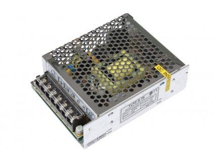 LED trafo 5V 15A (75W) - napájecí zdroj vnitřní IP20. Kovové stříbrné provedení s děrováním pro cirkulaci vzduchu. TopLux Osvětlení Praha skladem na prodejně nízké ceny