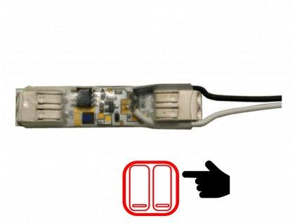 Modul pro tlačítko do profilu stmívač pro LED pásky 061212 Pro jednobarevné LED pásky, Max. zatížení: 12V = 108W, 24V = 180W, Rozměry 11 x 50 x 6 mm