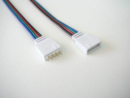 4pin s kabelem spojovací sada pro RGB barevné LED pásky