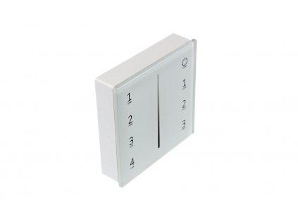 Bílý dálkový ovladač dimLED OV WRF-S-4CH pro jednobarevné LED pásky