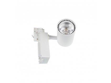 Lištový bílý LED reflektor TORU-W 20W studená 6000K kolejnicové bodové svítidlo track light 105709