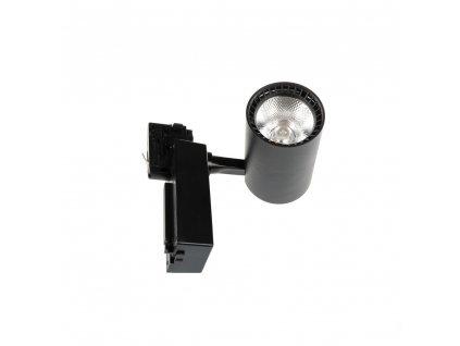 Lištový černý LED reflektor TORU-B 20W 4500K kolejnicové bodové svítidlo track light 105711 LED COB reflektor 20W Svítivost 1600 lm Barva světla 4500K denní bílá Náhrada za halogen 150W