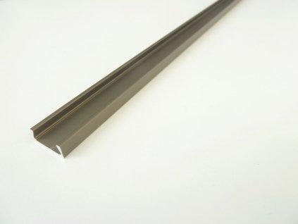 Mikro M2 bronzový nástěnný hliníkový profil 15x6mm