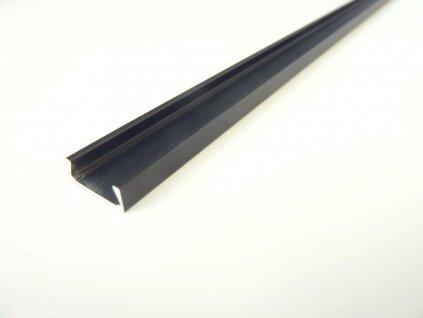 Mikro M2 černý nástěnný hliníkový profil 15x6mm
