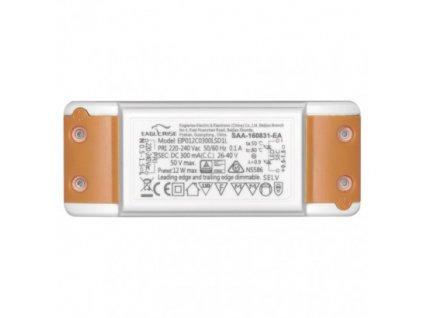 LED Stmivatelný zdroj 12W 300mA Triak trafo pro LED panel 17cm dimmable driver, výměnný zdroj Emos, plynulé nastavení intenzity jasu ZZ1230T