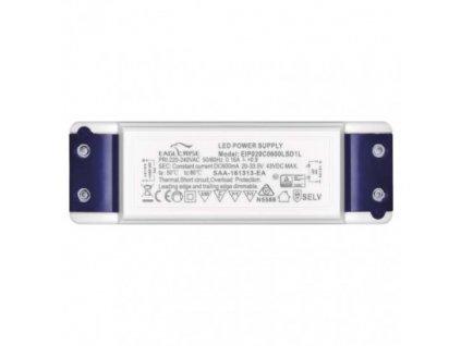LED Stmivatelný zdroj 20W 500mA Triak trafo pro LED panel 22cm dimmable driver, výměnný zdroj Emos, plynulé nastavení intenzity jasu ZZ2050T