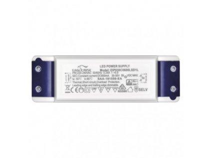 LED Stmivatelný zdroj 30W 600mA Triak trafo pro LED panel 30cm dimmable driver, výměnný zdroj Emos, plynulé nastavení intenzity jasu ZZ3060T