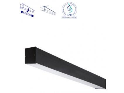 Stropní podlouhlé přisazené svítidlo pro LED zářivky 120cm propojovací líniové