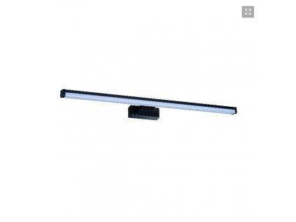 Nástěnné LED svítidlo do koupelny nad zrcadlo Kanlux ASTEN 12W 60cm černé barvy