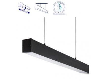 Závěsné stropní lankové lineární světlo nad stůl nebo do kanceláře prodejny