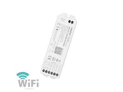 WiFi LED ovladač RGB+WW+CW, pro iOS, Android, 12-24VDC  komponent pro ovládání pomocí mobilního telefonu, aplikace pro ovládání v mobilu zdarma ke stažení.