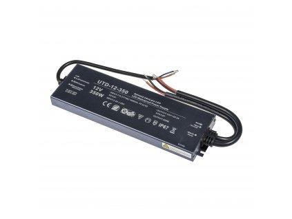 Kvalitní LED spínaný napájecí zdroj slim UTD 12V 350W 29,2A pro LED pásky voděodolné trafo IP67 venkovní zalité 056306 - záruka 5 LET