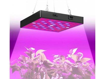 Speciální LED penel GROW 20W s barevným spektrem pro pěstování a rust rostlin, bylin, konopí, trávy, weed, zeleniny a koření. Vysoká svítivost, závěsný.