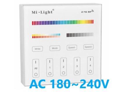 T4 RGB CCT nástěnný led ovladač vypínač stmívač ALLMIX všechny barvy