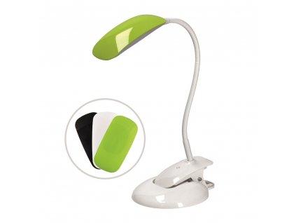 LED stolní lampa na klip  skřipec uchycení ke stolu čelu postele hraně nábytku, výměnné barevné kryty