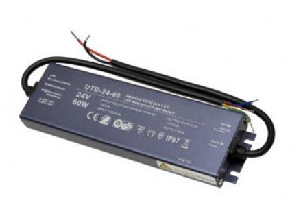 Profi LED napájecí zdroj UTD 24V 60W 2,5A Slim úzké profesionální trafo