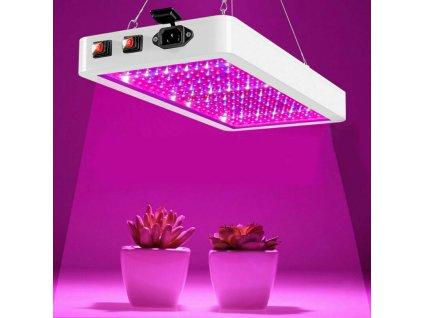 Speciální LED penel GROW 24W s barevným spektrem pro pěstování a rust rostlin, bylin, konopí, trávy, weed, zeleniny a koření. Vysoká svítivost, závěsný.